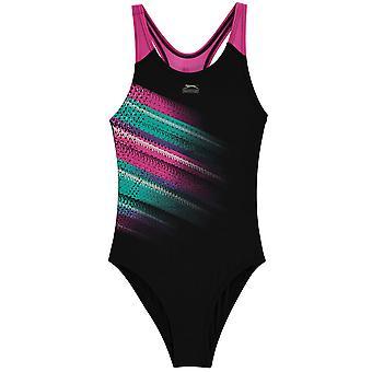 Slazenger Girls Sportback Swimsuit Junior Kids
