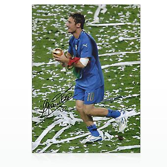 Francesco Totti Signed Italy Photo: World Cup Winner