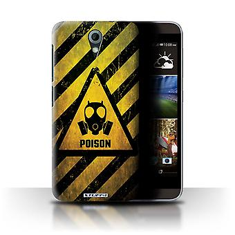 STUFF4 Case/Cover for HTC Desire 820 Mini/Poison/Hazard Warning Signs