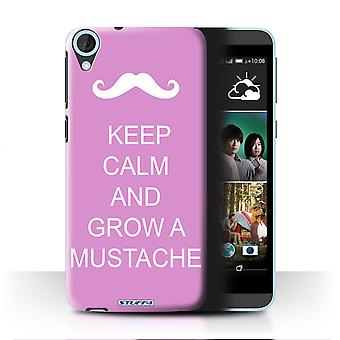 STUFF4 Case/Cover for HTC Desire 820q Dual/Grow a Mustache/Pink/Keep Calm