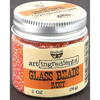 Art Ingredients Glass Beads 2oz-Rust AIB-62685