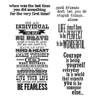Tim Holtz Cling Rubber Stamp Set Way With Words Cms 165