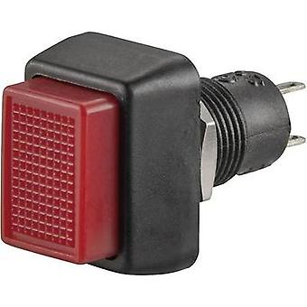 Pushbutton switch 250 Vac 1 A 1 x Off/On SCI R13-92B-05 RED ACTUATOR latch 1 pc(s)