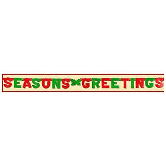 Seasons Greetings Banner Foil Letters