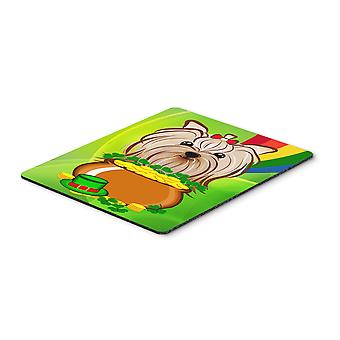 Yorkie Yorkshire Terrier St. Patrick's Day Mouse Pad, Hot Pad or Trivet BB1948MP