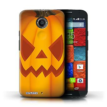 STUFF4 Case/Cover for Motorola Moto X (2014)/Evil/Halloween Pumpkin