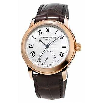 Frederique Constant Mens Classic Manufacture Brown Leather Strap FC-710MC4H4 Watch