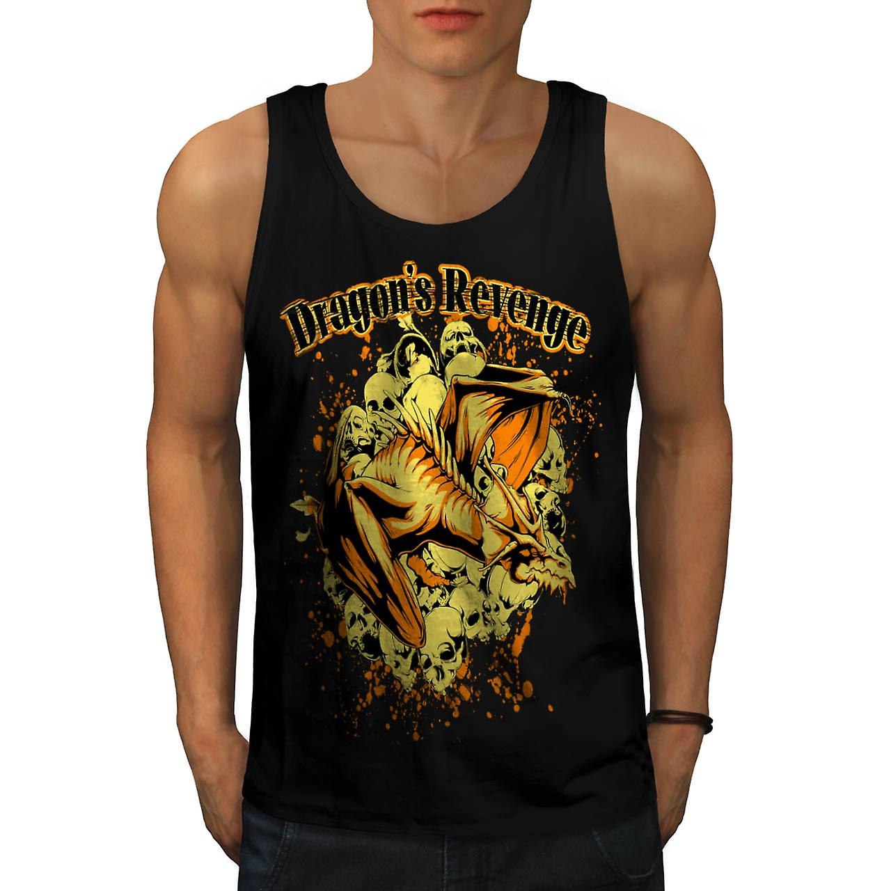 Dragon Revenge Rage Myth Monster Men Black Tank Top | Wellcoda