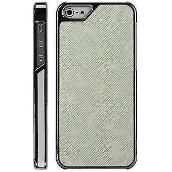 Chrom, Kunststoff-Abdeckung und Serge für iPhone 5 (weiß)