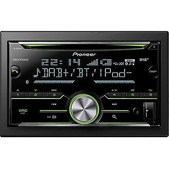 Double DIN car stereo Pioneer FH-X840DAB Bluetooth handsfree set, DAB+ tuner