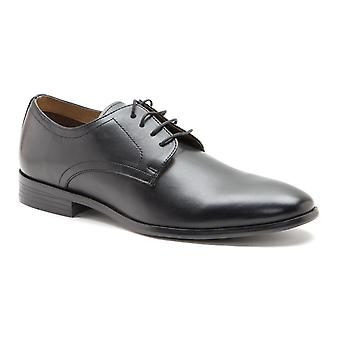 Red Tape Silwood Black Leather Formal Mens Derby Shoes