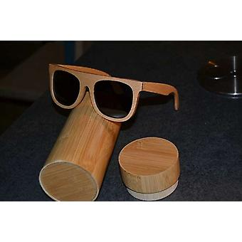 Wood Sunglasses brown beech wood unique UV protection polarized beech