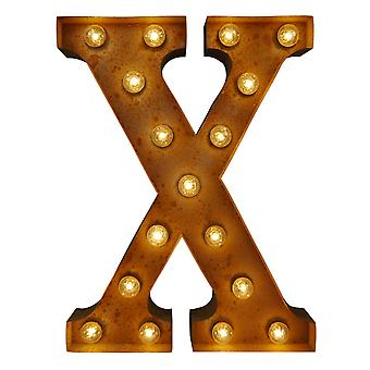 Large Vintage Letter Lights - X