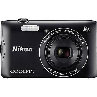 Digital camera Nikon Coolpix A-300 20.1 MPix Optical zoom: 8 x Black Wi-Fi, Bluetooth