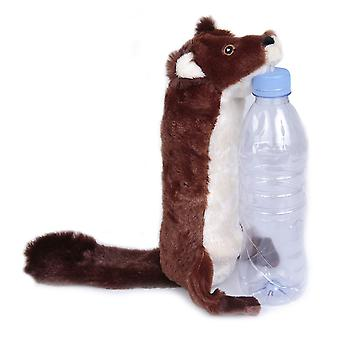 Bottle Fill Wild Animal Squeaky Dog Toy Beaver 46cm (18
