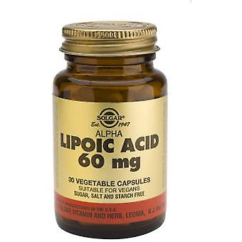 Solgar Alpha Lipoic Acid 60mg. 30Vegicaps (Dieet)
