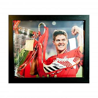Liverpool Gerrard Signed Boot (Framed)