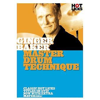 Ginger Baker - Master tromme teknik [DVD] USA import