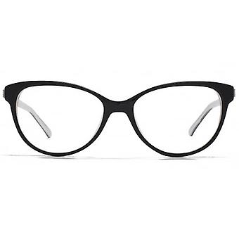 Carvela Round Cateye Glasses In Black