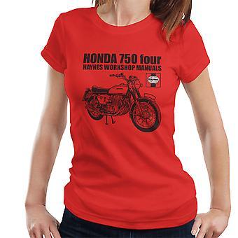 Haynes eiere Workshop manuell Honda 750 fire kvinner t-skjorte