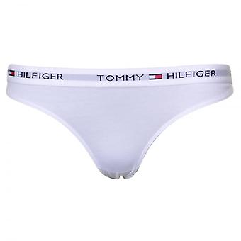 Tommy Hilfiger Women Iconic Cotton Thong, White, X-Small