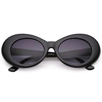 Retros gafas de sol ovaladas con brazos cónicos neutro color degradado lente 50mm