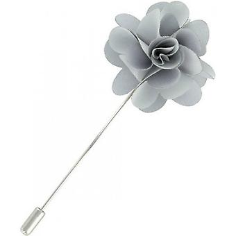 Michelsons of London Flower Lapel Pin - Silver