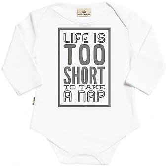 Spoilt Rotten Too Short For A Nap Long Sleeve Organic Baby Grow