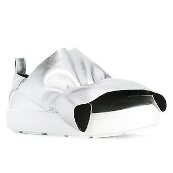 MSGM Damen Slipper Sneaker in Silber Leder