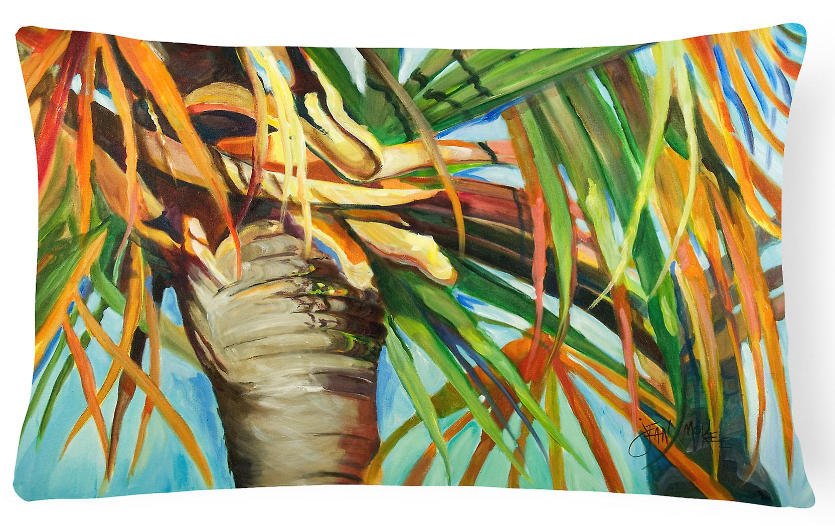 Décoratif Tree Orange Palm Tissu Top Toile Oreiller J3KlF1Tc