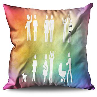 Wedding Love Couple Linen Cushion Wedding Love Couple | Wellcoda