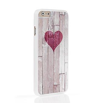 På din sag Iphone 6 og 6s sag - træ korn hjerte