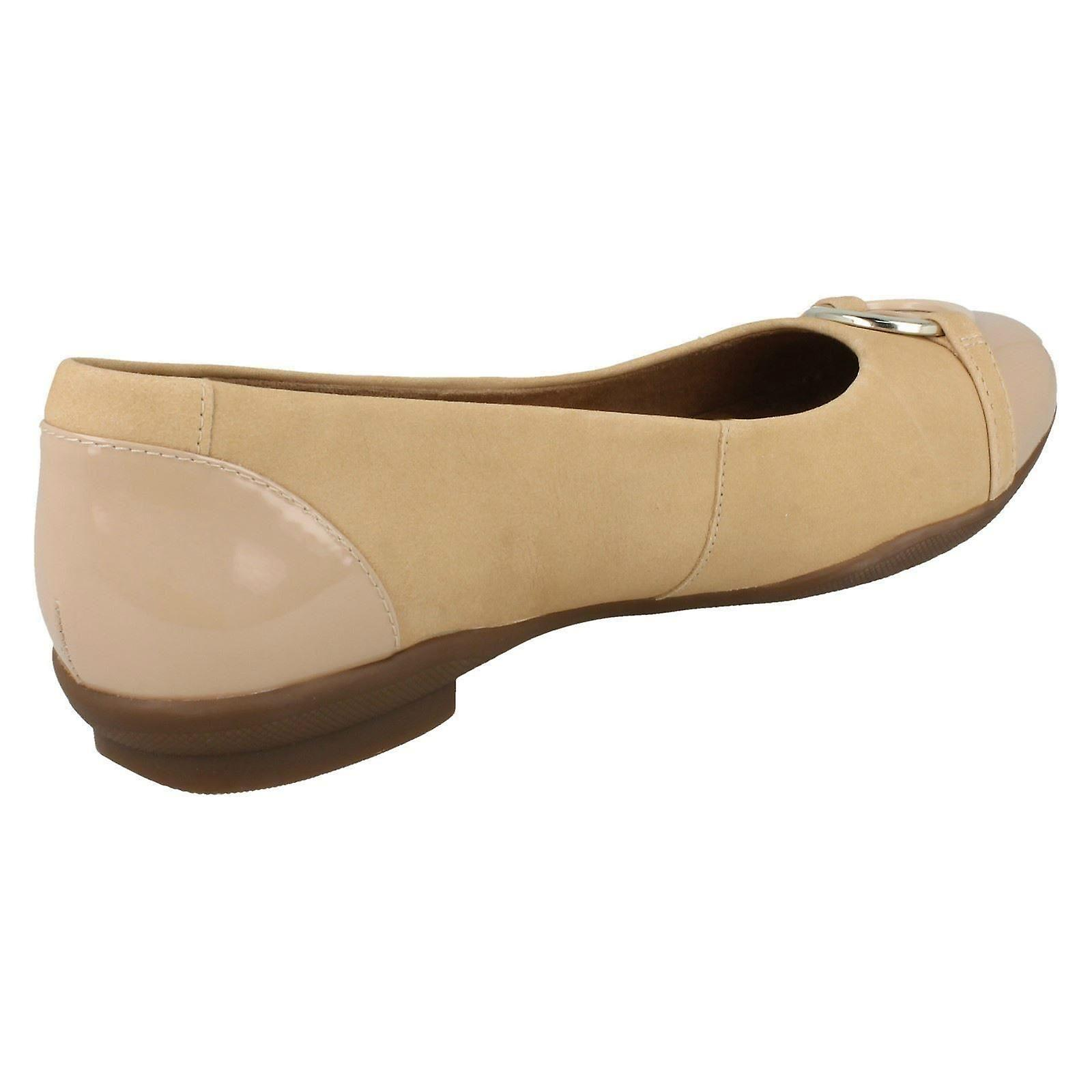 Size Ring Detail 8 6E Size Vine Clarks EU 39 Neenah US Size Ladies Ballerina 5 5W Combi Flat With Nude UK gw46q