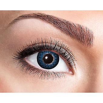 Natural contact lens blue ornaments