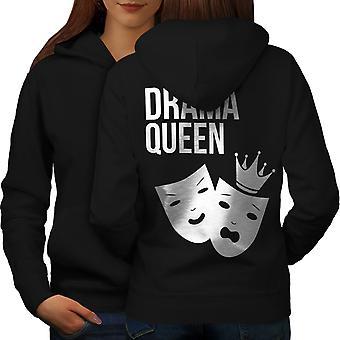 Drama Queen Cool Funny Frauen BlackHoodie Rücken   Wellcoda