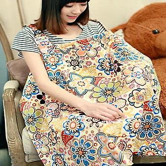 Nursing Cover Orange Flower