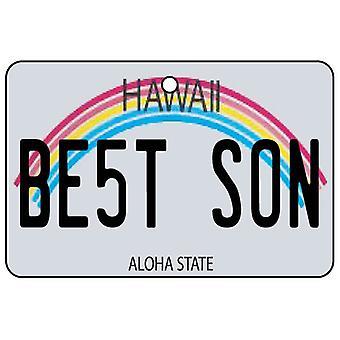 Hawaii - Best Son License Plate Car Air Freshener