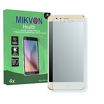 Huawei P10 lite Screen Protector - Mikvon Health (Retail Package with accessories) (intentionally smaller than the display due to its curved surface)