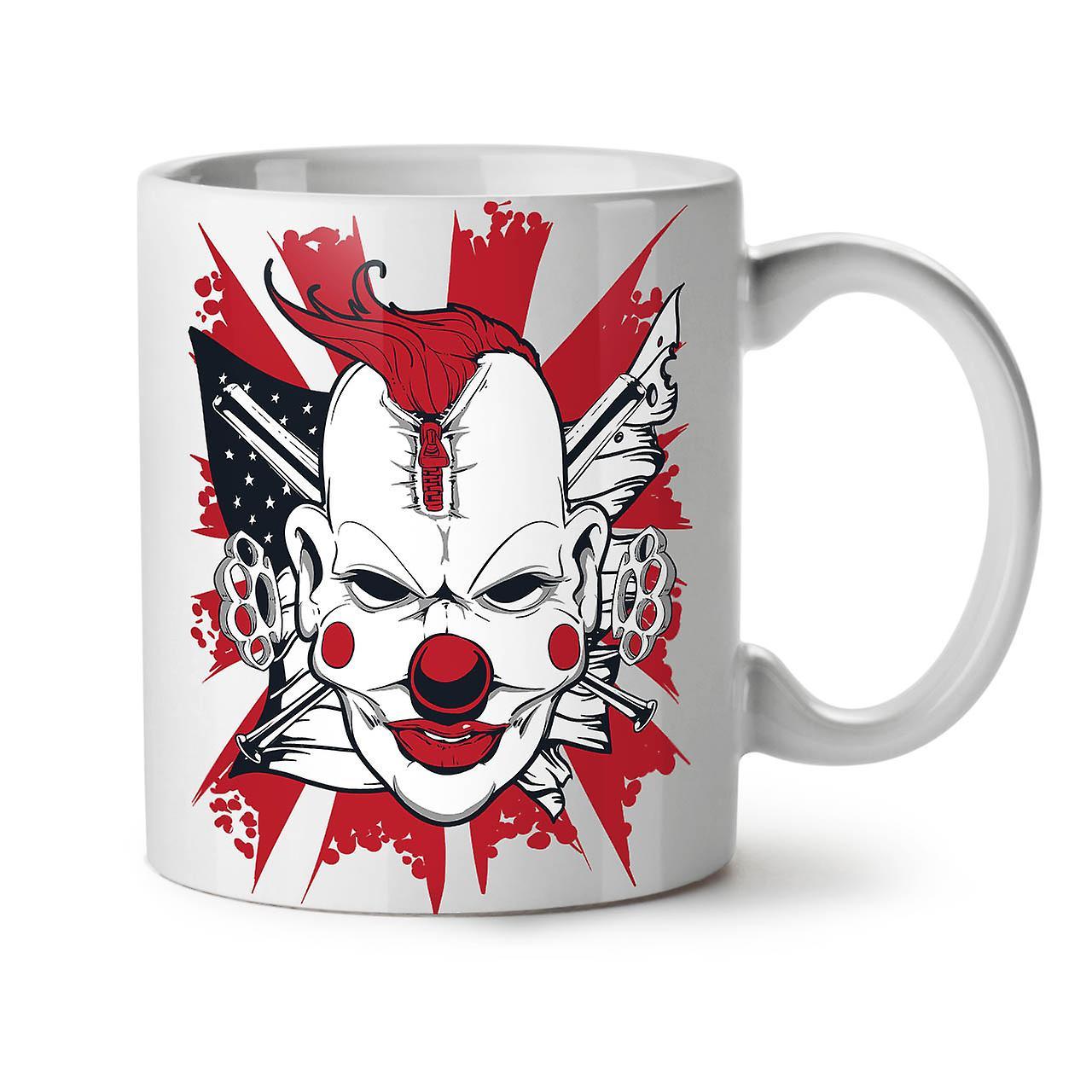 Clown Thé Horreur Mal Céramique 11 Nouveau Café Blanc OzWellcoda Tasse L54RA3cjq