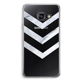 Samsung A3 (2017) Transparent Case (Soft) - Marble arrows