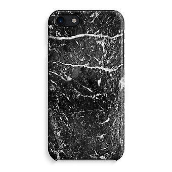 iPhone 8 Full Print Case (Glossy) - Black marble