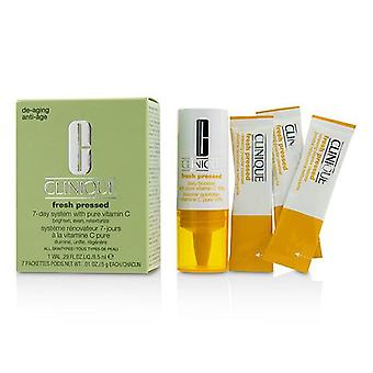 Clinique Fresh Pressed 7-Day System with Pure Vitamin C (1x Daily Booster 8.5ml + 7x Renewing Powder Cleanser 0.5g) - -