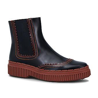 Tods Damen Chelsea-Boots aus braunem Lackleder