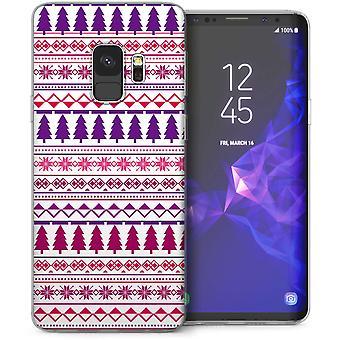 Samsung Galaxy S9 kerstboom strepen TPU Gel geval – paars