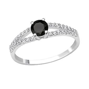 Round - 925 Sterling Silver Jewelled Rings - W27904X