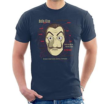 Le Casa De Papel Heist Mask Men's T-Shirt