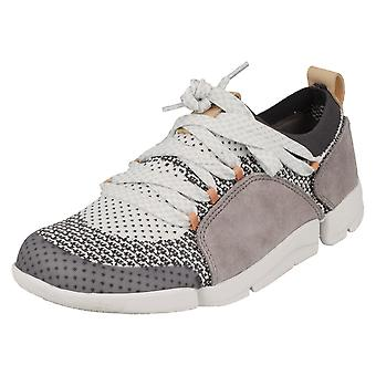 Ladies Clarks Casual Lace Up Trainers Tri Amelia