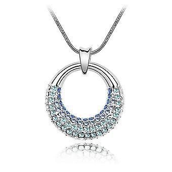 Crystal blue of Swarovski adorned Moonlight pendant