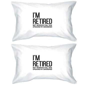 Retired Grandkids Special Cotton Pillowcases Queen Size