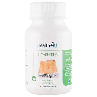 Health 4U L-Carnitina 90 capsulas 500 mg (Sport , Muscle definition , L-Carnitine)